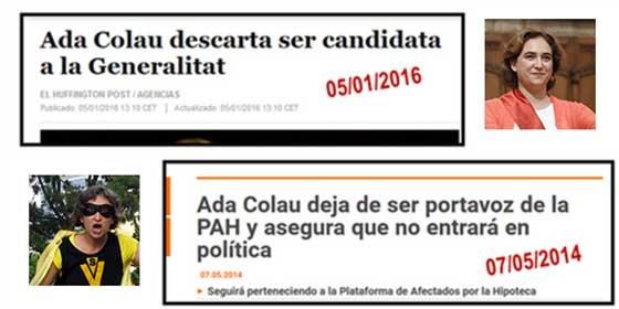 ¿Quién puede creerse a Ada Colau?