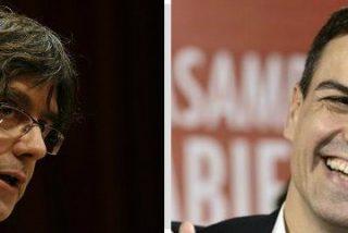Tras 'alquilar' cuatro senadores socialistas a ERC y DyL, Pedro Sánchez se pone a 'disposición' de Puigdemont