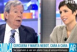"""Corcuera y Marta Nebot la vuelven a tener, esta vez en un plató: """"¿Por qué está preocupada por el PSOE? ¡Como periodista ni le va ni le viene!"""""""