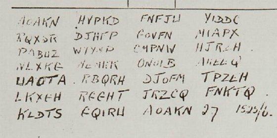 Ganarás 40.000 € si descifras este código secreto de la II Guerra Mundial