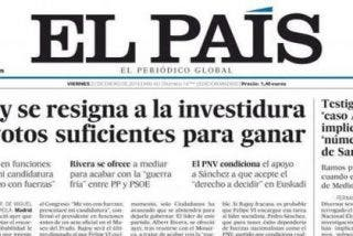 Diario 'El País': Mariano Rajoy no puede, Pedro Sánchez no debe