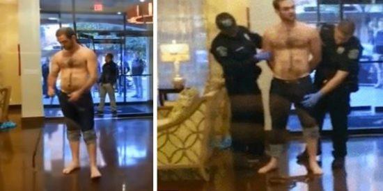 El vídeo del policía que confunde una verga 'enrabanada' con un arma