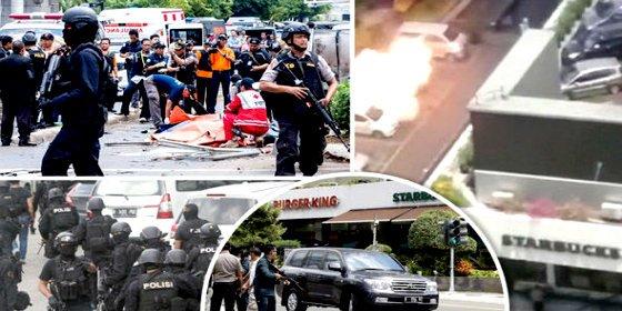 De esta forma se vuela en pedazos un chalado del ISIS para matar a mansalva en Yakarta