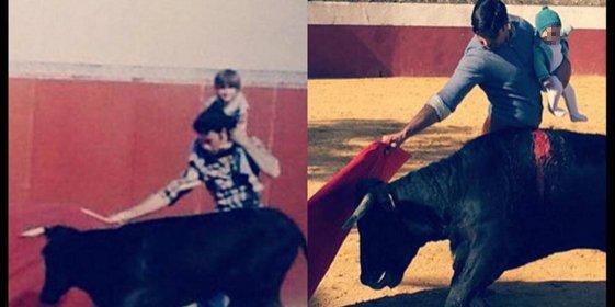 Insultos e hipocresía en 'Sálvame' ante la foto de Fran Rivera toreando con su hija