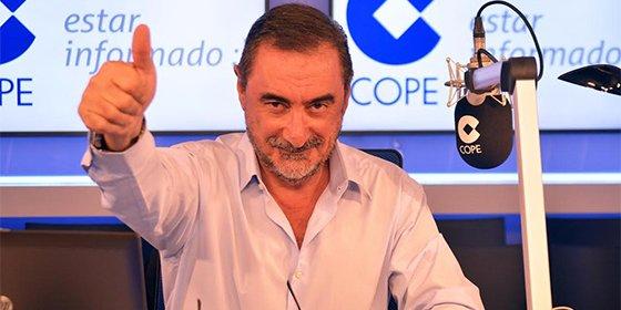 """Carlos Herrera sobre el circo podemita en el Congreso: """"¿Con esta payasada de 'Nancys' lloronas quiere pactar Pedro Sánchez?"""""""