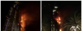 Un espectacular incendio arrasa un hotel de lujo en Dubái