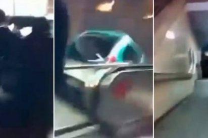 Con esta guasa tiran un coche por el metro unos borrachos para celebrar el Año Nuevo