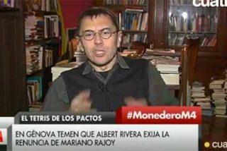 """El vómito de Monedero: """"Rajoy, a quien le muestra su cariño, lo mata y Losantos lo remata"""""""
