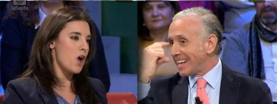 """Eduardo Inda despedaza a la podemita Montero: """"No mientas, queréis cuatro grupos por tener más pasta"""""""
