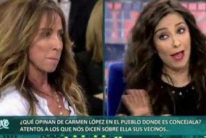Carmen López y María Patiño se tiran de los pelos en 'Sálvame'