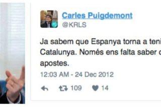 """La hemeroteca tuitera de Puigdemont: """"Ya sabemos que España vuelve a tener un GAL, ahora contra Cataluña"""""""
