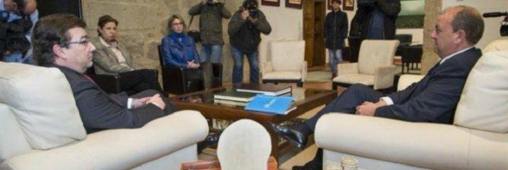 Monago se reúne con Fernández Vara para dialogar sobre los presupuestos regionales