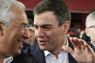 Sánchez se saca la foto en Portugal con la izquierda que rescata bancos