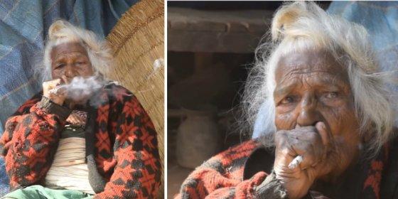 La mujer de 112 años que se fuma 30 cigarrillos diarios y está más fresca que una lechuga