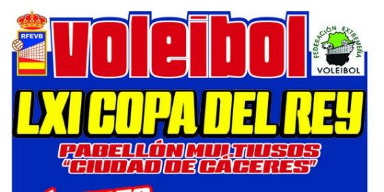 La XLI Copa del Rey de Voleibol se celebrará en Cáceres