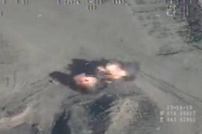 Las 4 ratas asesinas del DAESH que pierden hasta la cola huyendo despavoridas del misil