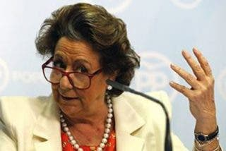 """Rita Barberá: """"No dimito; es que ni me lo planteo; a pesar de las ansias irrefrenables de la izquierda"""""""