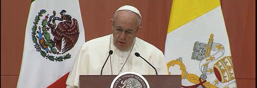 """El Papa arremete ante Peña Nieto contra """"la corrupción, el narcotráfico, el secuestro y la muerte"""" que azotan México"""
