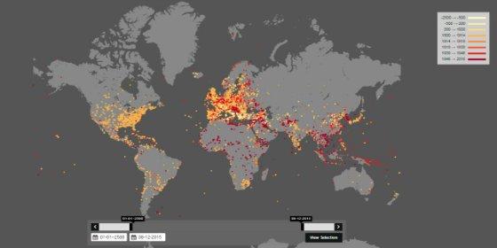 El mapa interactivo con las guerras del mundo de los últimos 4.000 años