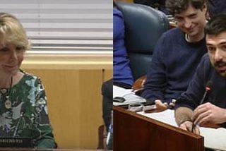 """Aguirre deja por el suelo al podemita estrella Espinar, que se rinde a ella: """"Usted tiene gracia"""""""