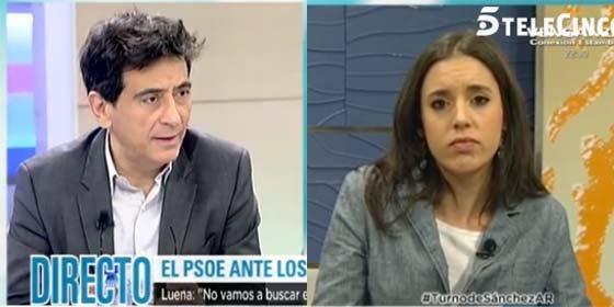 """Arcadi define a la 'novieta' de Podemos: """"Montero es una especie de clon pequeñito, cierras los ojos y ves a Pablo"""""""