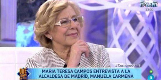 La amable entrevista de Campos a una Carmena que se escapa viva