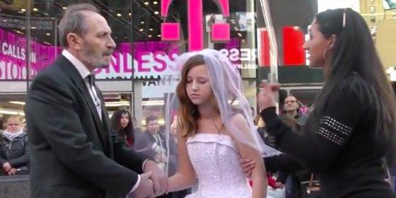 ¿Cómo reaccionarías viendo una boda entre una niña de 12 años y un hombre de 65?