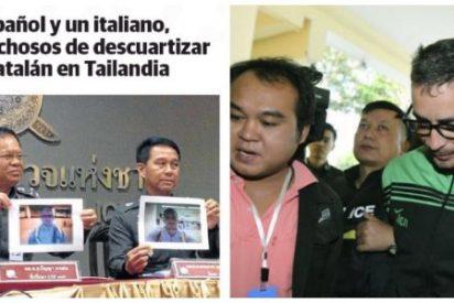 Alucinante titular de El Correo de Bilbao sobre el descuartizador catalán de Tailandia