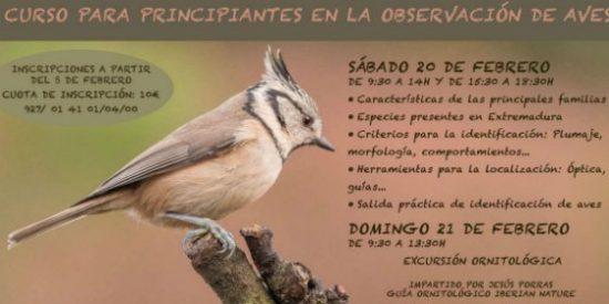 El Centro de Educación Ambiental de Cuacos de Yuste organiza un curso de iniciación en la observación de aves