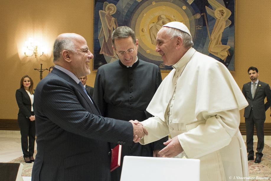 El papa abordó con Al Abadi la situación de los cristianos en Irak