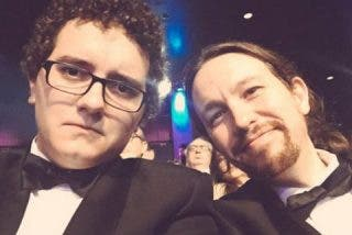 Pablo Iglesias fue a los Goya con el presentador de La Tuerka que equiparó al PP con ETA