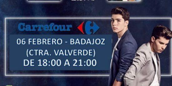 Gemeliers elige el Centro Comercial Carrefour Badajoz Valverde para la firma de su último disco