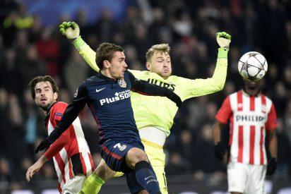 El equipo de Simeone domina al PSV pero es incapaz de meter un balón entre los palos
