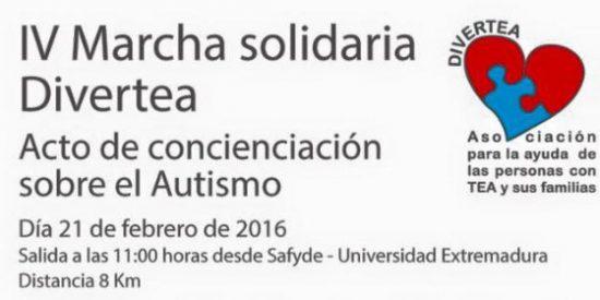 Cáceres acoge la IV Marcha Solidaria Divertea para concienciar sobre el autismo