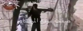 Así hace fosfatina un tanque sirio al listo del ISIS por mirar a mala idea