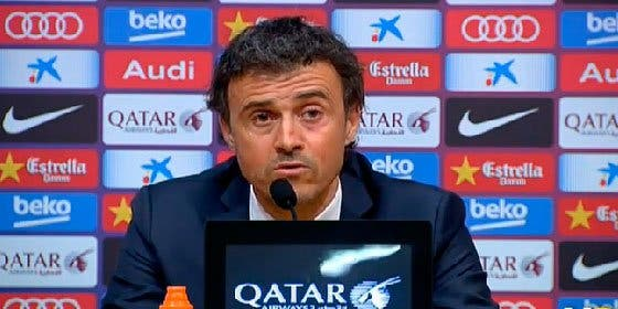 """Luis Enrique: """"Si han proferido insultos a mis jugadores, les felicito por no entrar"""""""