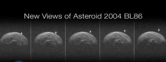 El OVNI cilíndrico captado por la NASA que se acerca al asteroide BL86 2004