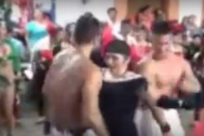 Así baila la picantona alcaldesa de Tabasco estilo perreo con dos strippers