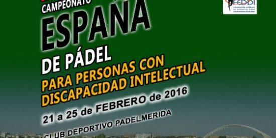 Mérida será escenario de unas jornadas de formación y del Campeonato de España de pádel adaptado