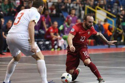 España supera a la Portugal de Ricardinho, el mejor jugador de fútbol sala del mundo