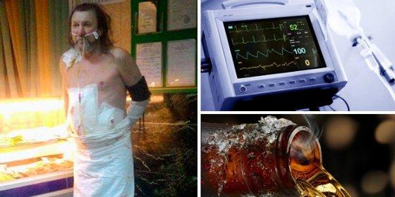 Se escapa de la UCI entubado tras una operación para tomar una cerveza