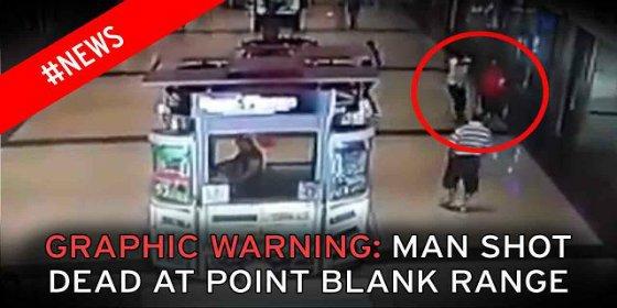 San Valentín sangriento: Así matan de 5 tiros a quemarropa al narco en un centro comercial