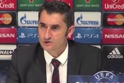 """Valverde: """"Es un buen resultado, obligamos al Olympique a ganar en Bilbao"""""""