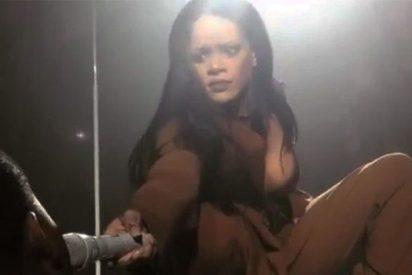 El sorpresón que se lleva Rihanna al ponerle el micro a un fan en pleno concierto