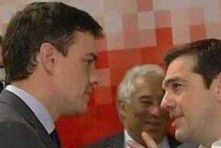 Pedro Sánchez pide a AlexisTsipras que le eche una mano con Pablo Iglesias y Twitter se parte de risa