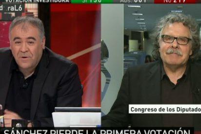 """El independentista Tardá avisa a García Ferreras: """"Vigile que no le echen del trabajo"""""""