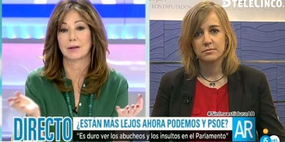 Ana Rosa sonroja a Tania, que reaparece con el papelón de defender el guerracivilismo de Iglesias