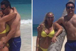 Así son las vacaciones de Belén Esteban con Andreíta y Miguel en las playas del Caribe