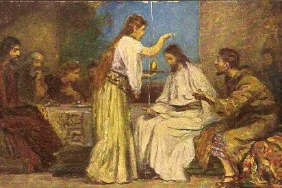 Mujer que ungió a Jesús: Para memoria de ella.
