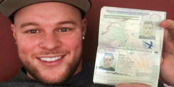 Un británico barbudo logra llegar a Alemania con el pasaporte de su novia